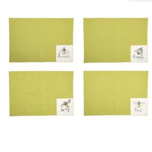 NWT Set of 4 Honey bee Table Placemats New